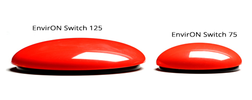 EnvirON Wireless Switch 75 Size Comparison